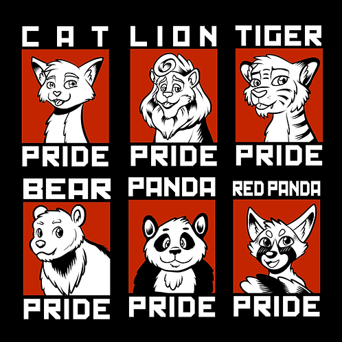 Feline and Bear Pride Badges
