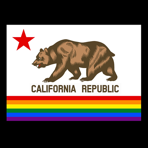 LGBT California Pride Flag