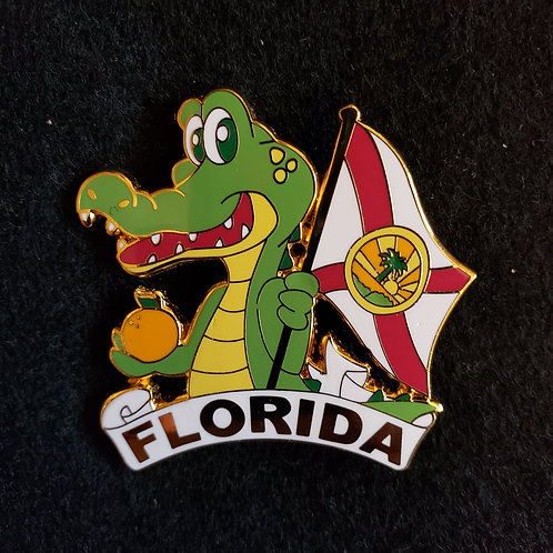 Florida Gator and Flag Pin