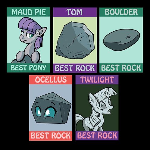Pony Badges - Maud and Rocks