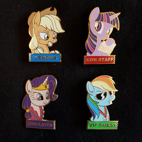 Pony Con Badge Pins
