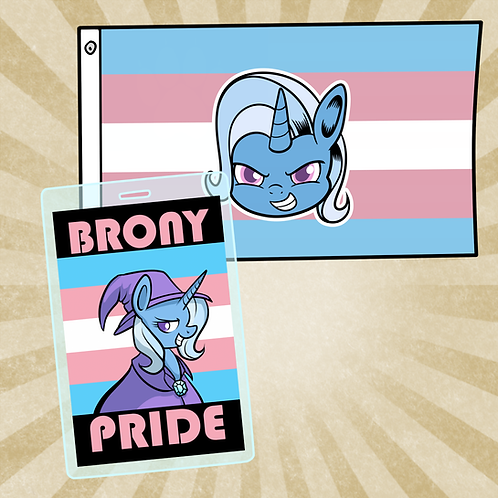 Trixie Trans Flag & Badge Combo Special