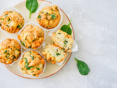 Spinach And Cheese Polenta Muffins