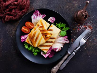 Chargrilled Pumpkin & Haloumi Salad