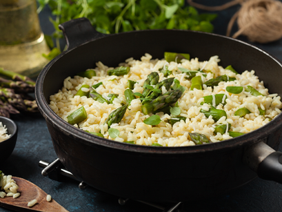 Lemon Risotto With Asparagus And Zucchini