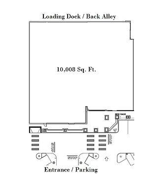 Site plan of 29 S Milpas St in Santa Barbara Plaza.