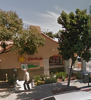 Carl's Jr sidewalk view in Santa Barbara Plaza on Milpas St.