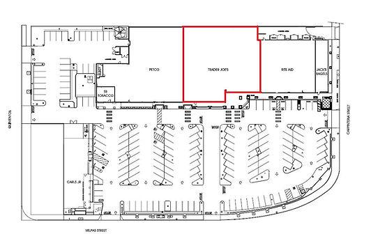Site plan of Santa Barbara Plaza.