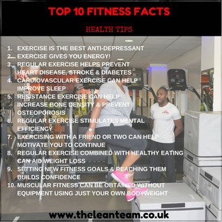 Top 10 Fitness Facts