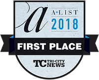 The First Place Winner for A-List. Best Spa in Tri-City in 2018