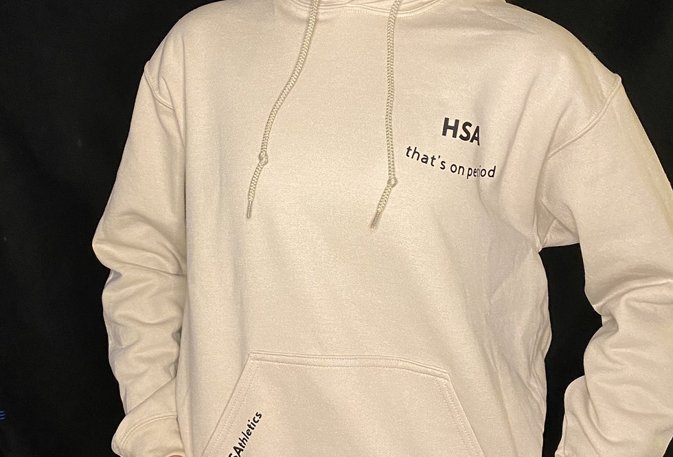 that's on period. Hoodie