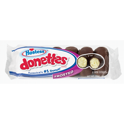 HOSTESS DONETTES MINI DONUTS CHOCOLATE