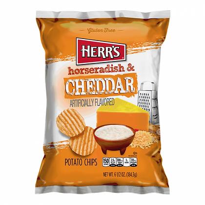HERR'S CHEDDAR & HORSERADISH POTATY CHIPS