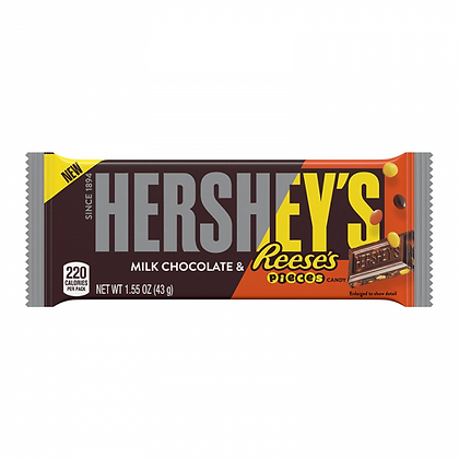 HERSHEY'S MILK CHOCOLATE BAR WITH REESE'S PIECES