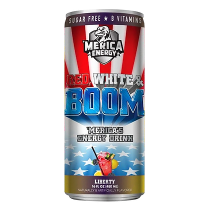'MERICA ENERGY RED WHITE & BOOM - LIBERTY (BLACKBERRY LEMONADE)