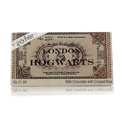 HARRY POTTER HOGWARTS EXPRESS PLATFORM 9 3/4 MILK CHOCOLATE BAR