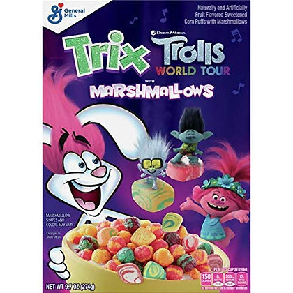 GENERAL MILLS TRIX TROLLS WITH MARSHMALLOWS