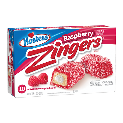 HOSTESS ZINGERS RASPBERRY PEZZI 10