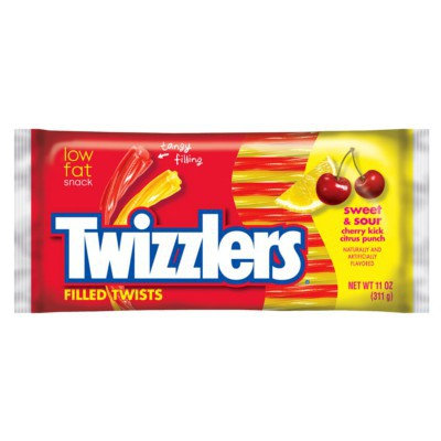 TWIZZLERS SWEET & SOUR CANDY TWISTS
