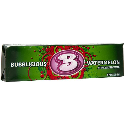 BUBBLICIOUS WATERMELON, CHEWING GUM X5 da 40g