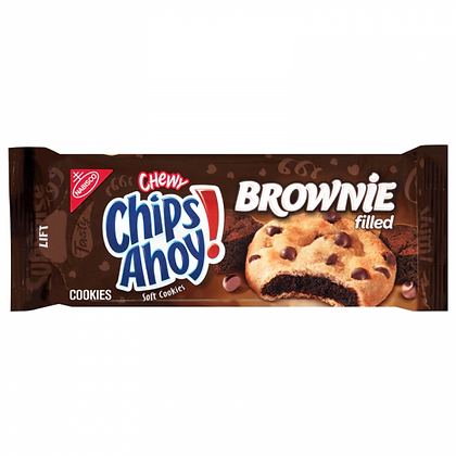 CHIPS AHOY CHEWY BROWNIE FILLED COOKIES