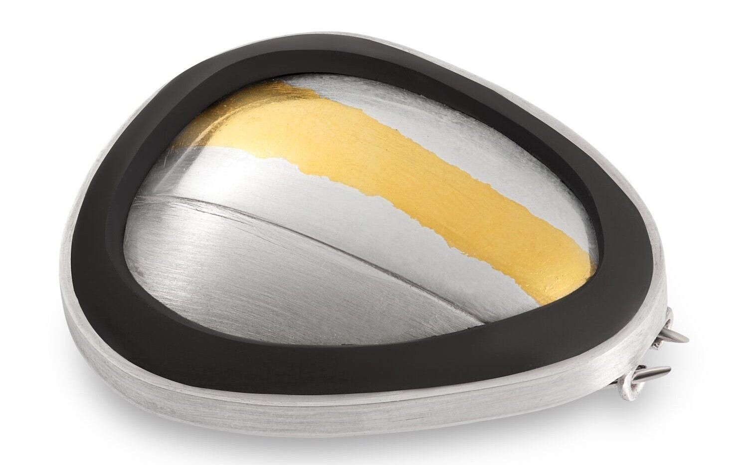keum boo 23.5ct gold and silver  Pebble Br
