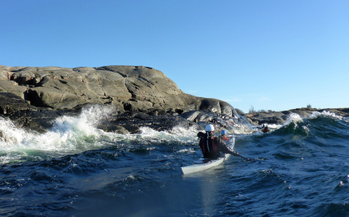 Sea Kayaking clients in Sweden