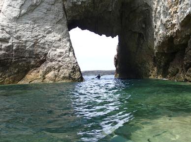 Rhoscolyn white arch