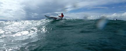 North Wales sea kayaking - swell