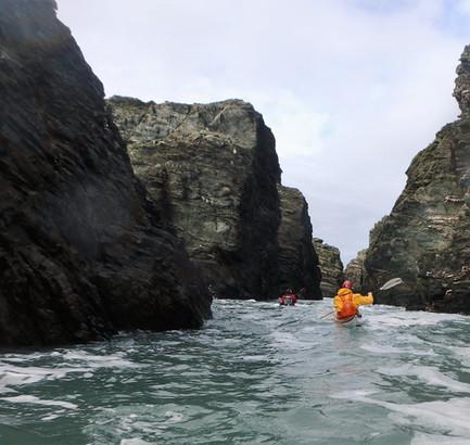 North Wales sea kayaking at Llanca, Spain