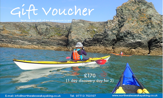 Gift voucher for couples with North Wales Sea Kayaking in Anglesey
