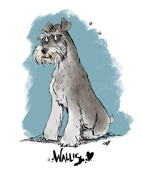Customised A4 Schnauzer print