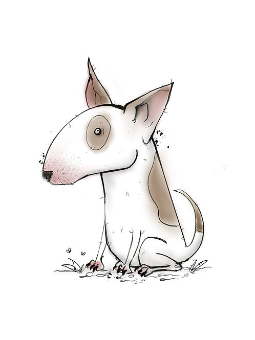 Customised A4 English Bull Terrier art print