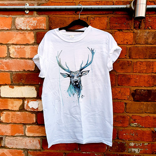 Stag T-shirt 100% cotton