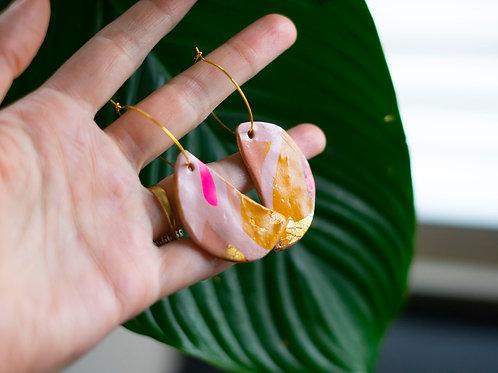 Namibia leaf earrings - handmade polymer clay earrings