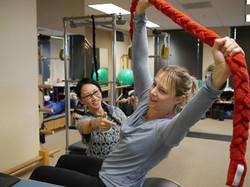 pilates, pilates instructor, ladder barrel, core strengthening, fletcher towel, core stability
