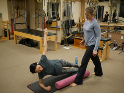 assessing side lift, physical therapist, pilates rehab, assessment, doctor of physical therapy