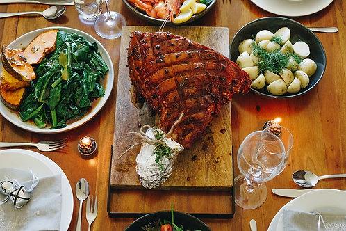 Christmas Ham on the Bone (Half approx. 5-6kg or Full Leg 10-12kg)