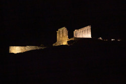 CSA view of Poseidon temple in Sounion from ship