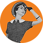 sunglasses hat woman orange.png