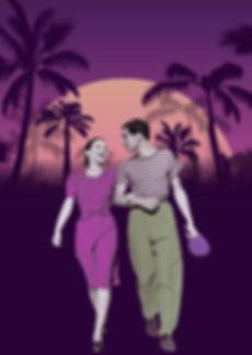 couple ping pong miami night purple tall