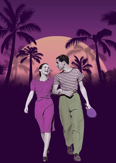 couple ping pong miami night purple tall