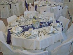 CSA dinner table setup