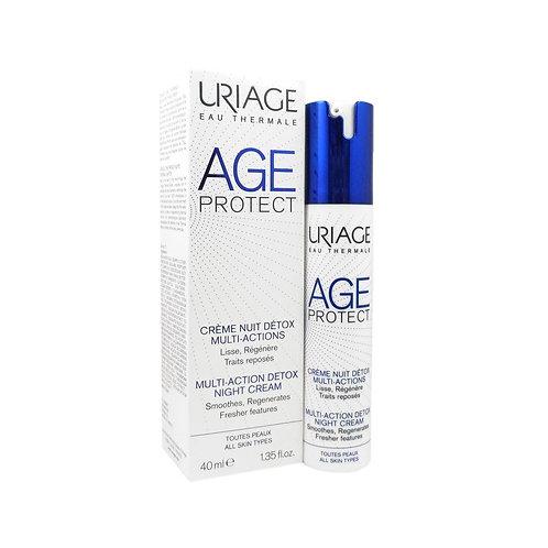 URIAGE - AGE PROTECT - CREMA DE NOCHE DETOX MULTIACCIÓN -50ML