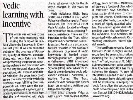 News Article from The Hindu On 5th June.
