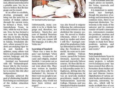 Sanskrit is a vital cultural link