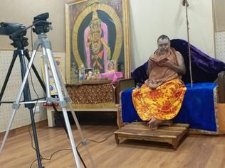 H H Pujaysri Swamigal inaugurated VISVAS T V and Blessed the organizers with  Anugraha bhashanam