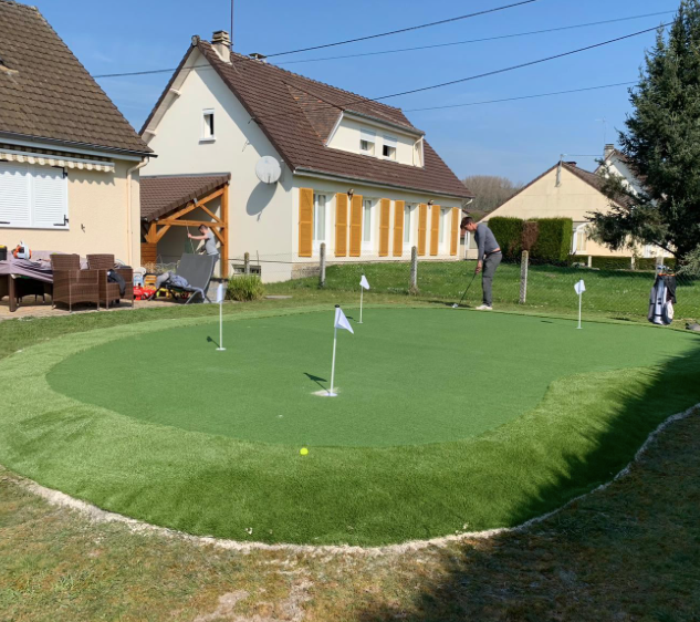 Chantier - Gazon synthetique - Golf Paris