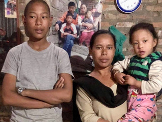 Helping another family in Nepal
