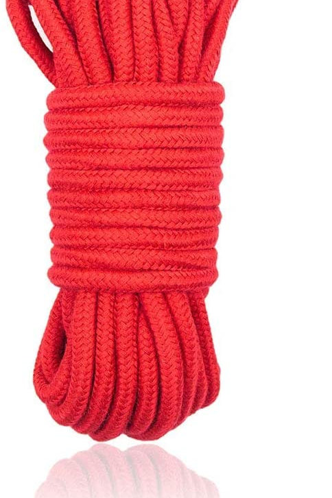 Bondage Rope Cotton 10 m Red